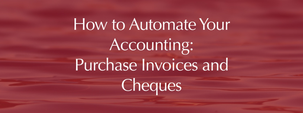 Accounting automation purchase invoices and cheques