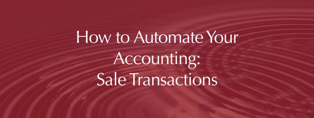 accounting automation sales transactions