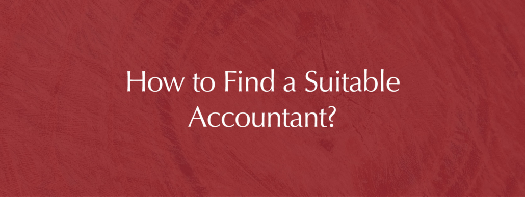 selection of a suitable accountant